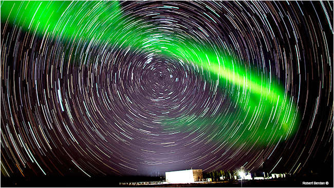 Aurora and star trails Fort McMurray by Robert Berdan ©