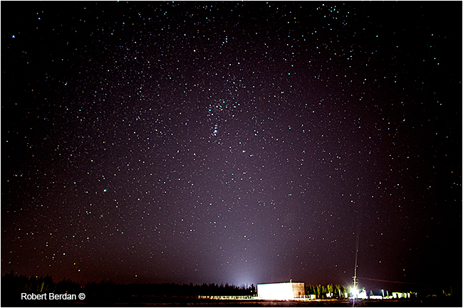 Stars and constellation of Orion Fort McMurray by Robert Berdan ©