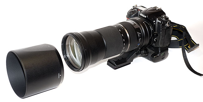 Tamron 150-600 mm lens attached to a Nikon D300S camera body by Robert Berdan ©