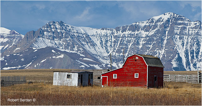 Old barn along highway 505 by Robert Berdan ©