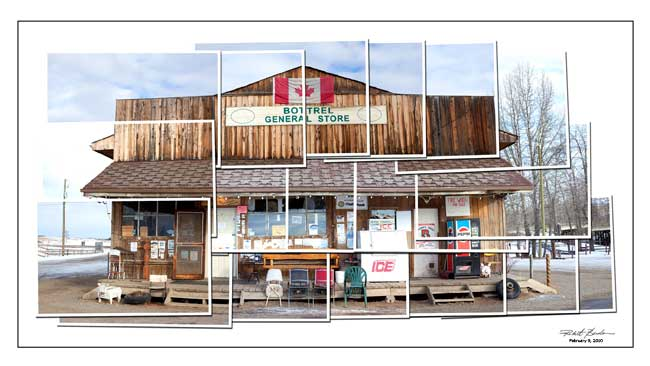 Photomontage of the Bottrel store.